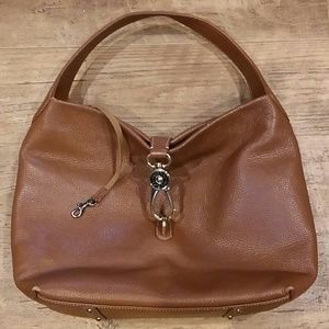 Dooney and Burke Pebbled Leather Shoulder Bag